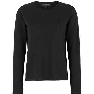 SRMarla O-neck knit rollEdge Black soft rebels