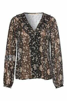 Carla shirt black Rue de femme