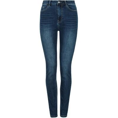 SRHighwaist slim jeans blue Soft rebels
