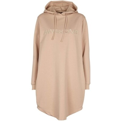 Malle sweat hoodie dress camel Prepair
