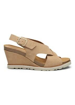 Marlene cork sandal beige suede Amust