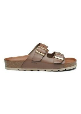 Frida cork sandal Taupe leather Amust