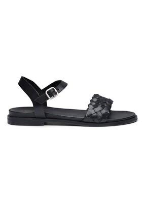 Sofie sandal leather black Amust