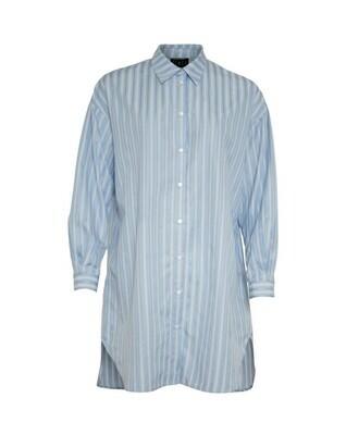 Monami skjortekjole light blue  strib Soulmate