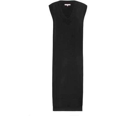 SRMarla V-neck knit dress Black Soft rebels