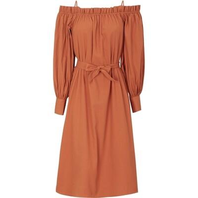 SRSenorita offshoulder dress Rooibos tea Soft rebels