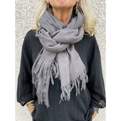 Tørklæde dark grey Three M