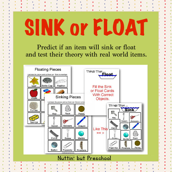 Things That Float and Things That Don't – Sink or Float Science Center