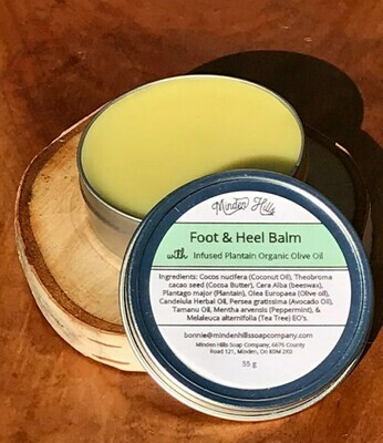 Foot & Heel Balm w/Plantain infused Organic Olive Oil