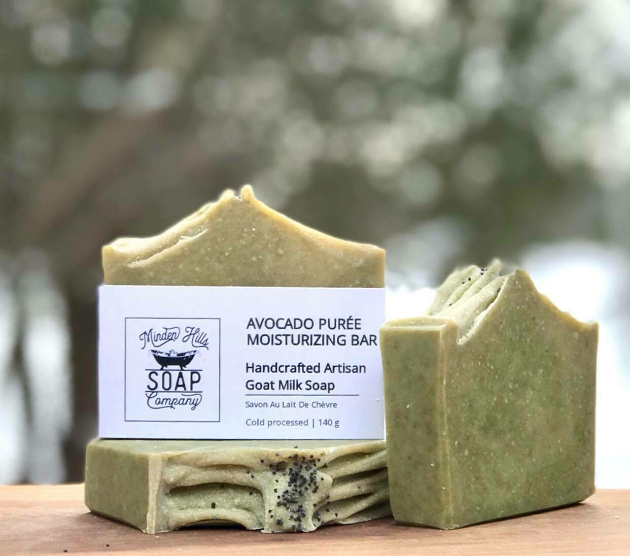 Avocado Moisturizing Puree Natural Goats Milk Soap