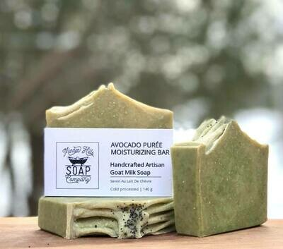 Avocado Moisturizing Puree Natural Goats Milk Soap