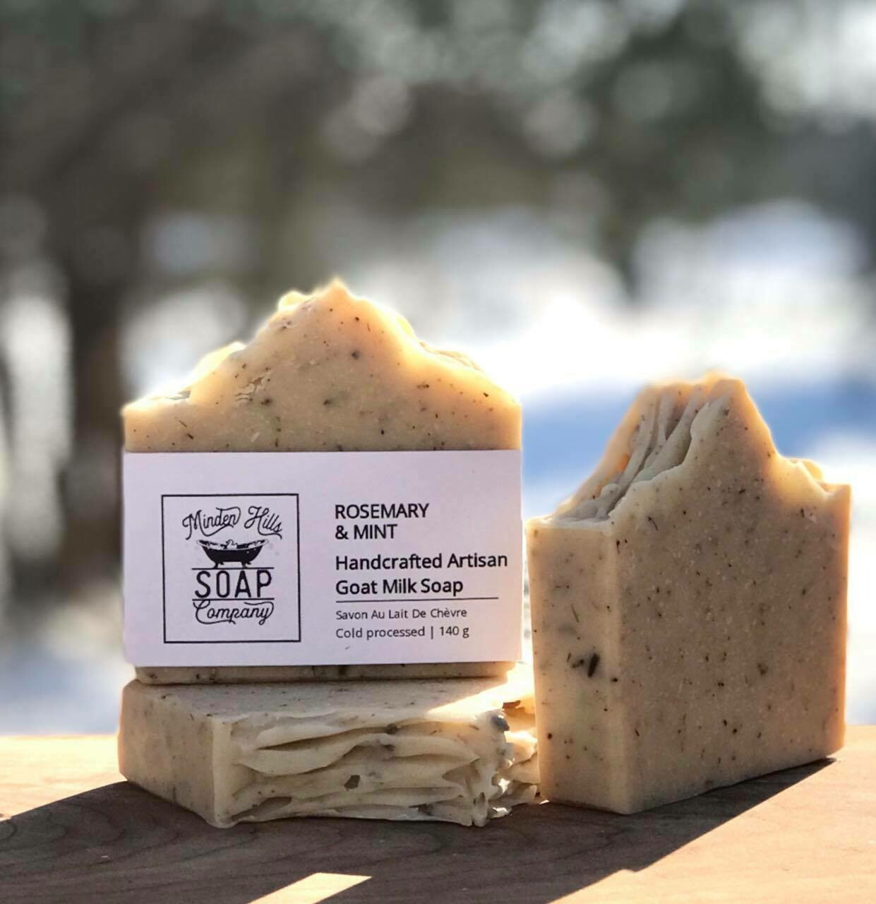 Rosemary & Mint - ALL Natural Goats Milk Soap