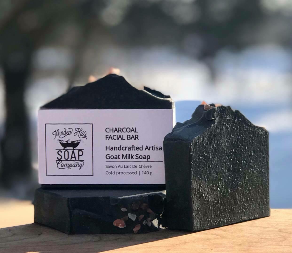 Charcoal Facial Bar - Goats Milk Soap