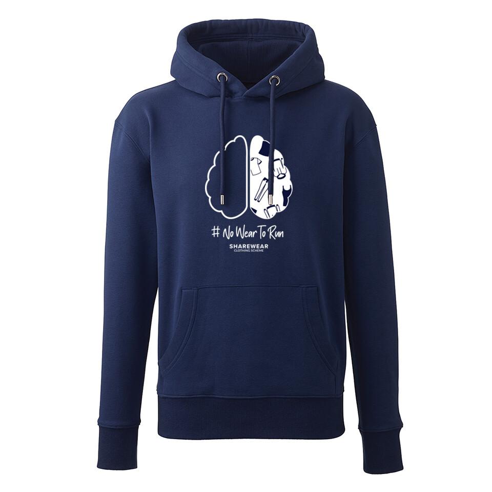 #noWeartorun Limited Edition Hoodie - Oxford Blue