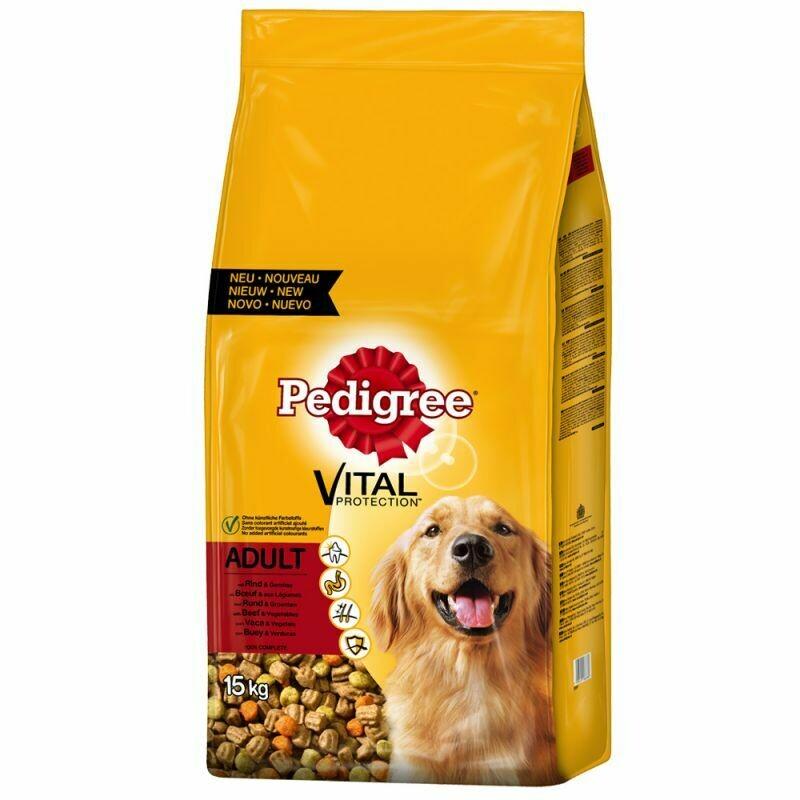 Храна за куче PEDIGREE Vital Protection, говедско со зеленчук