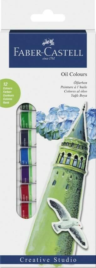 Faber-Castell OIL COLOURS STARTER KIT 12ml BOX OF 12
