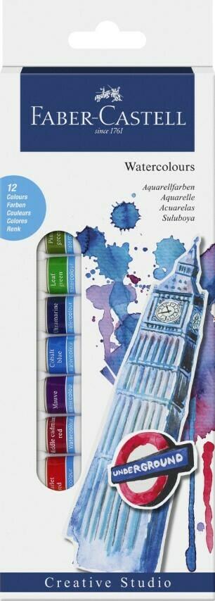 Faber-Castell WATERCOLOUR STARTER KIT 12ml BOX OF 12