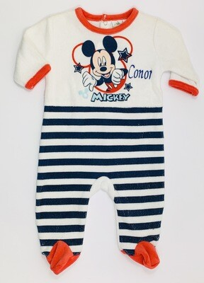 Mickey Mouse velour baby grow