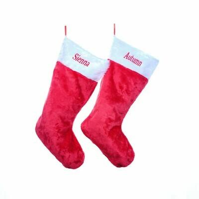 Personalised Large Fluffy Christmas Stocking