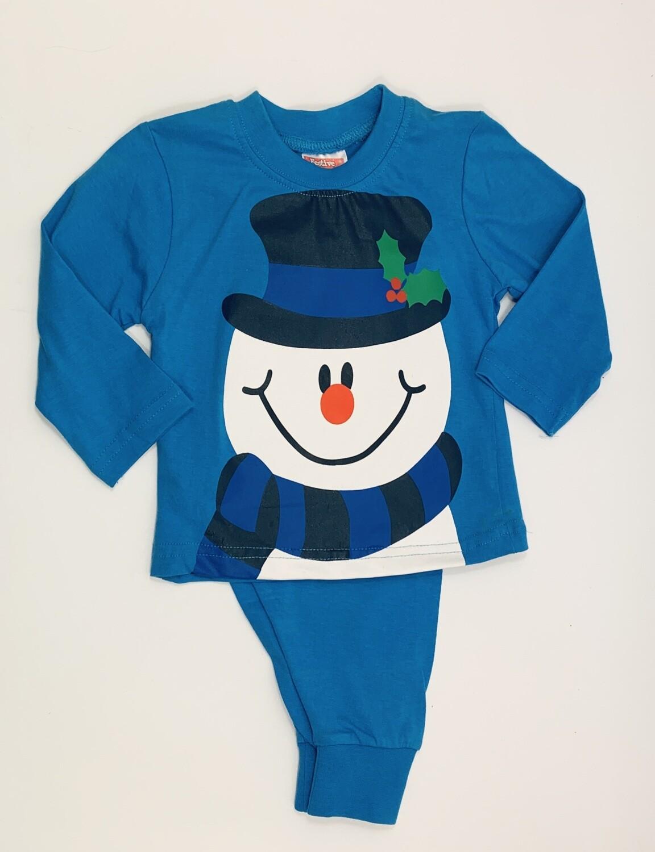 Blue snowman  pyjamas