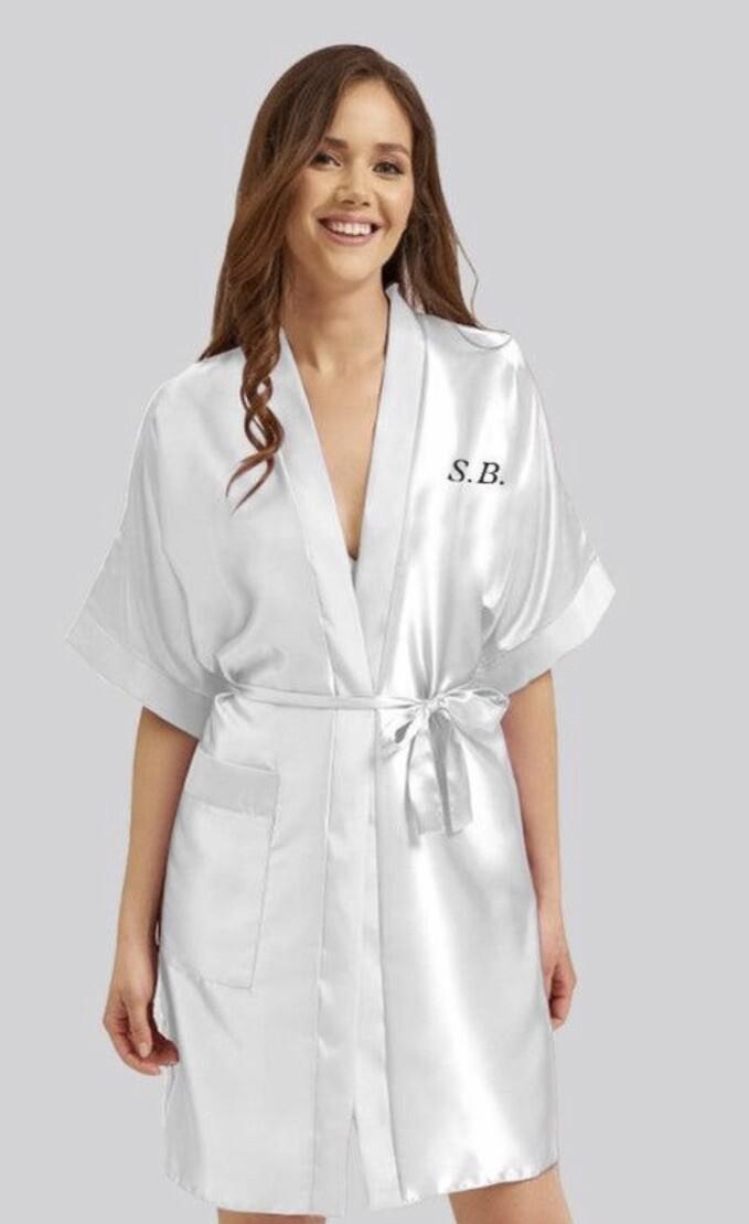 White silk robe