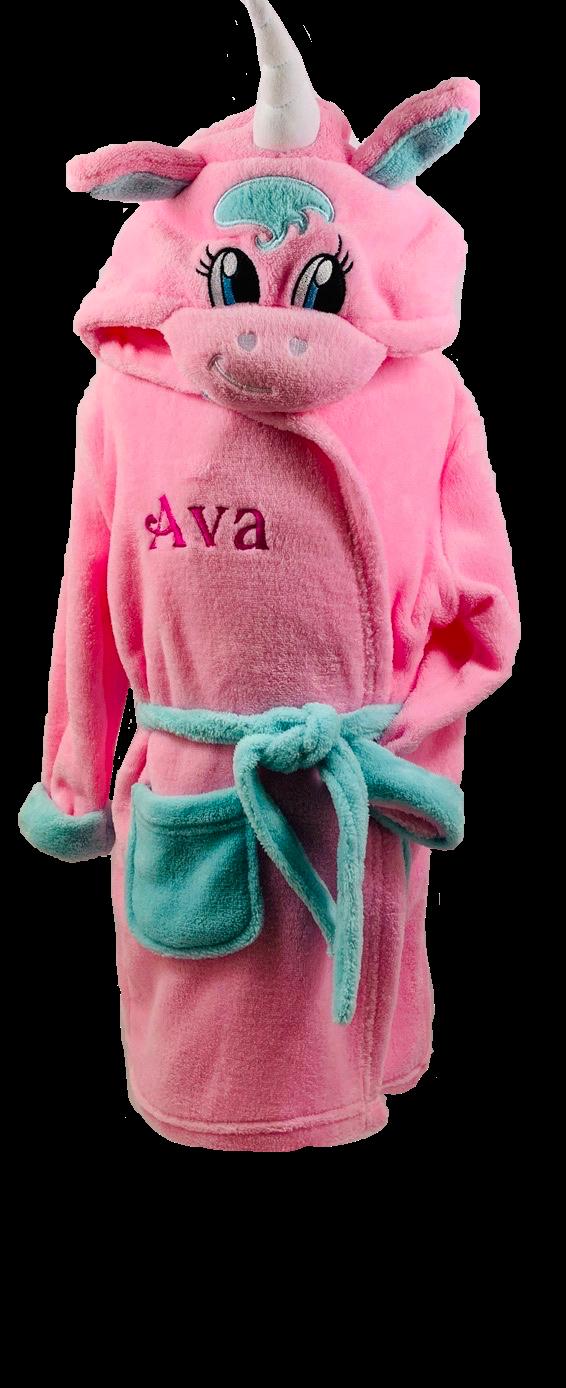 Pink unicorn house coat