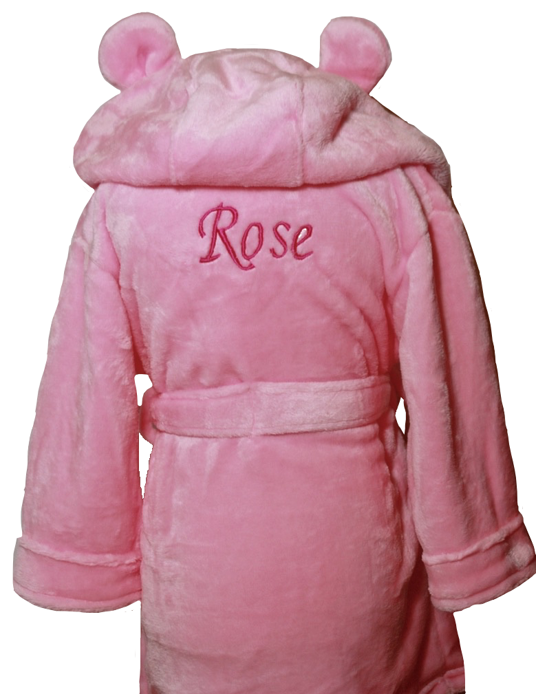 Pink house coat with ears