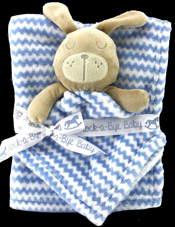Zigzag blanket and comforter set