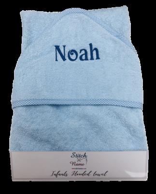 Blue Hooded Baby Bath Towel