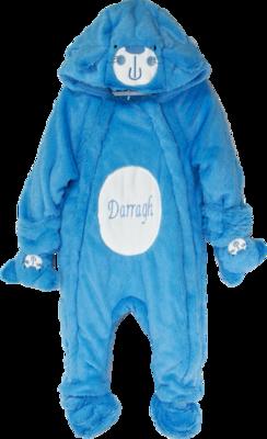 Blue cat snow suit