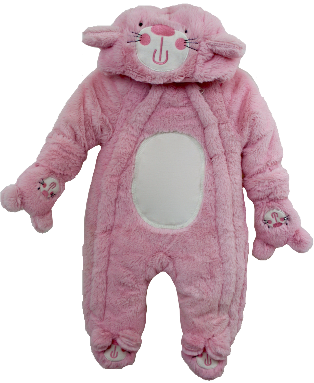 Pink cat snow suit
