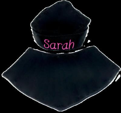 Black hat and bib set