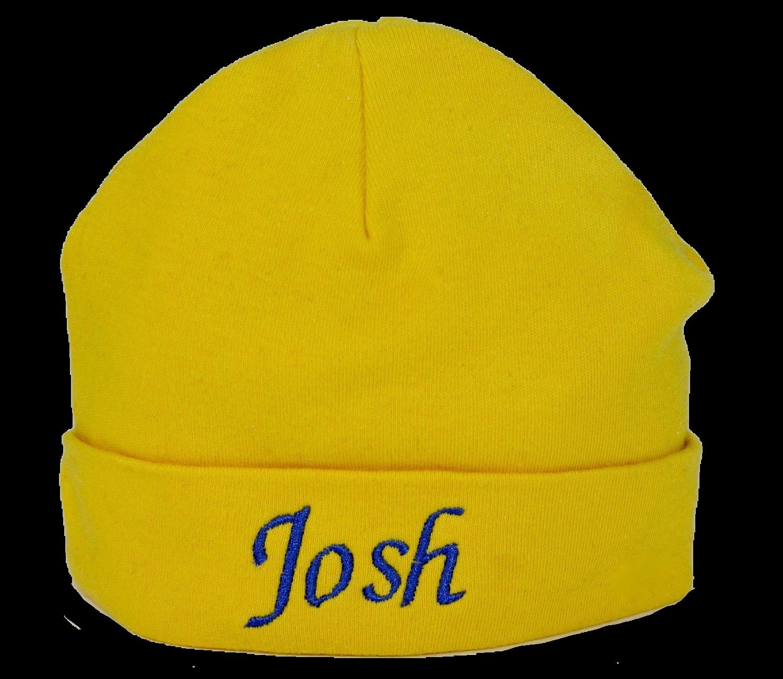 Yellow baby hat