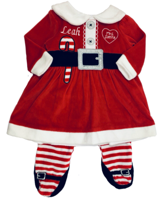 Candy cane baby dress