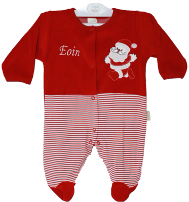 Striped Santa baby grow