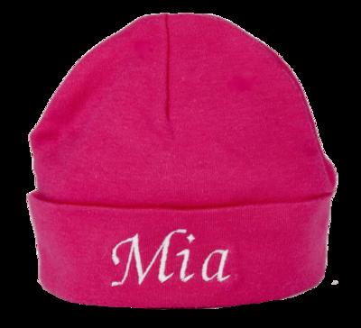Cerise pink baby hat
