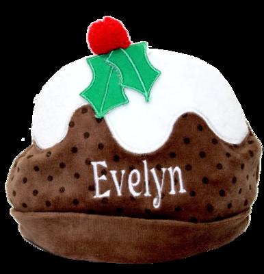 Christmas pudding velvet hat