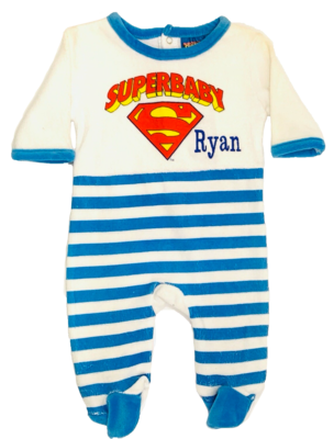 Superbaby velour baby grow