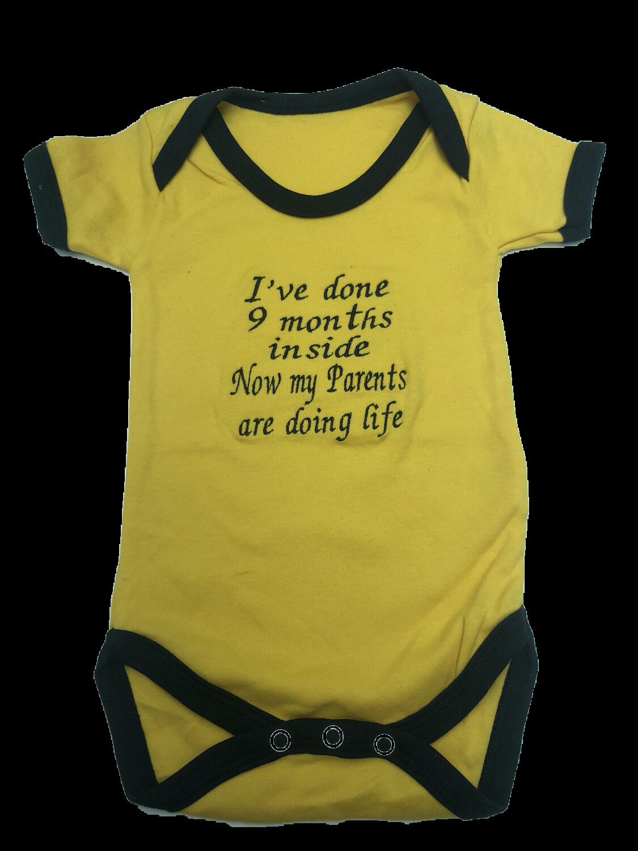 Yellow with Black Trim Vest