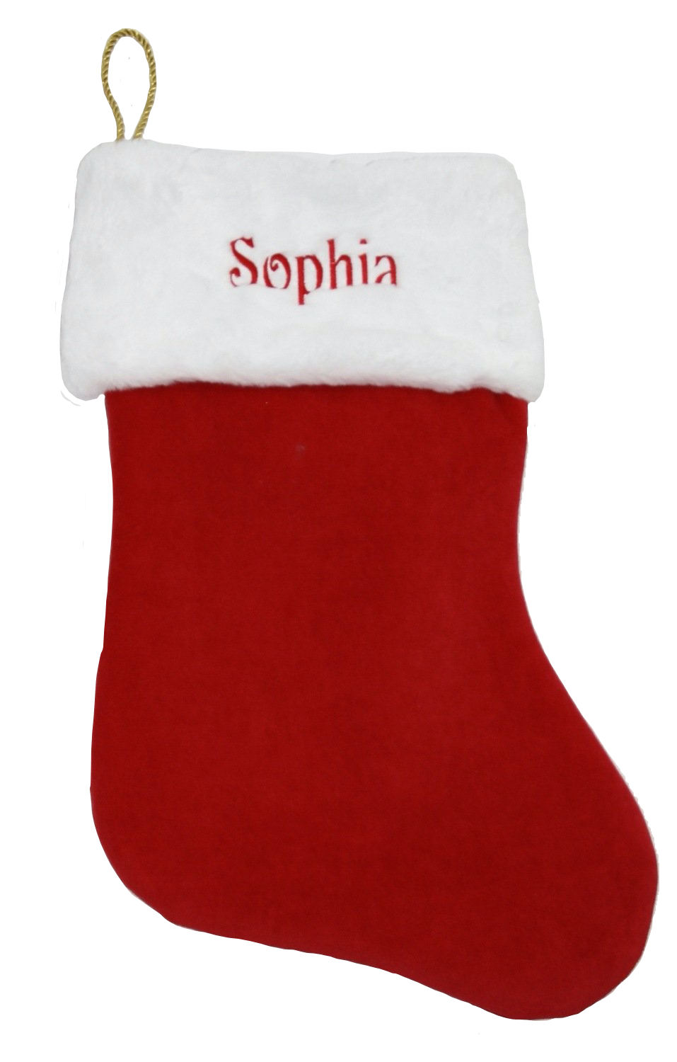 Deluxe personalised christmas stocking