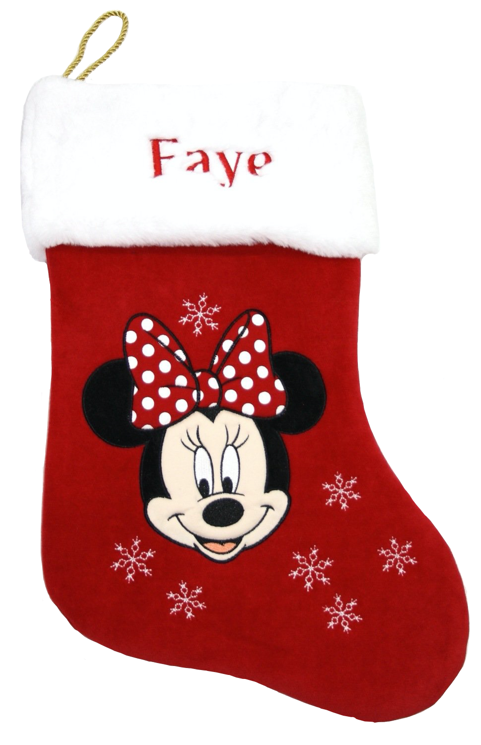 Disney personalised Minnie Mouse Christmas stocking