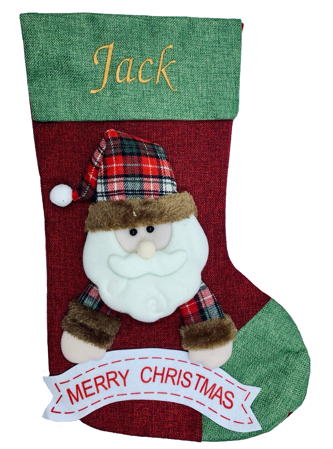 Personalised Santa Clause 3D Stocking