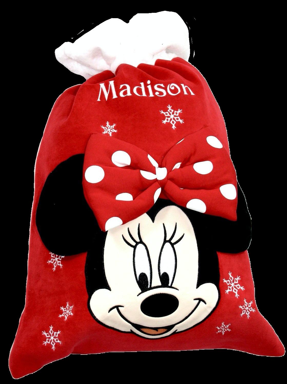 Personalised Disney Minnie Mouse christmas sack