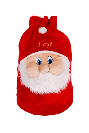 Personalised Small 3D Santa face christmas sack
