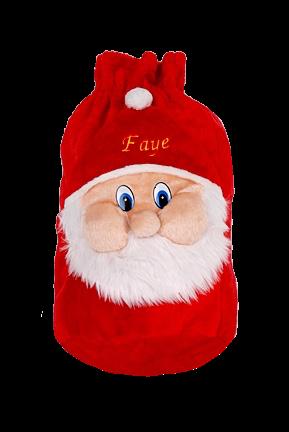 Personalised Large 3D Santa face christmas sack