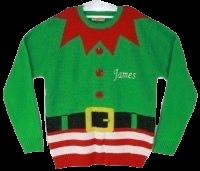 Personalised Adult elf Christmas jumper