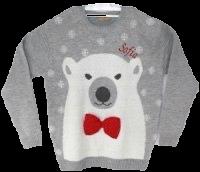 Personalised Adult polar bear jumper
