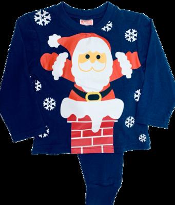 Navy Santa pyjamas