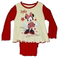 Red your a star Minnie Mouse  pyjamas