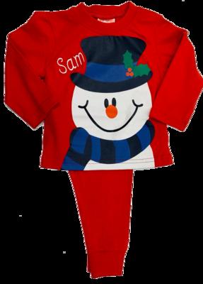 Red snowman  pyjamas